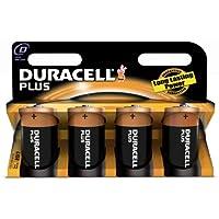 Duracell Pila Plus Mono D (LR20) 1,5V, confezione da 4