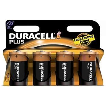 Duracell Plus - Pilas D/LR20 1,5 V - Dx4 [importado de Reino Unido]