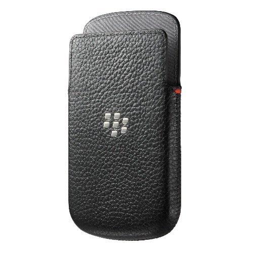 Original für BlackBerry Ledertasche Tasche Beutel Hülle Q5 - Schwarz Hdw-55522-001