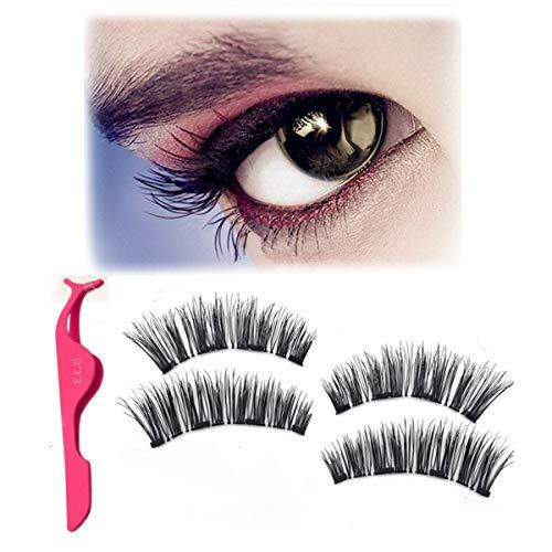 Magnetische Gefälschte Wimpern Wiederverwendbare, Handgemachte Augenwimpern 3D Natürlichen Look Falsche Wimpern Verlängerung, Einfach Anwenden Kein Kleber Benötigt Voller Größe (Anwenden Wimpern Von Falschen)