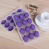 Molde de silicona con diseño de uvas para hacer cubos de hielo o bombones de chocolate, color aleatorio