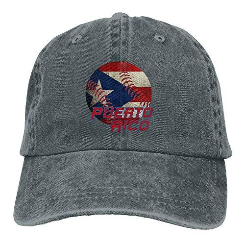 Puerto Rico Baseball Flag Baseball Denim Hats for Men Women -