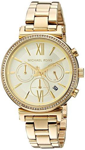Michael Kors Damen Analog Quarz Uhr mit Edelstahl Armband MK6559