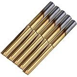 cnbtr oro titanio recubierto Flauta doble ranura recta Router Bit de trabajo de madera juego de 5