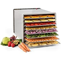 Klarstein Fruit Jerky Pro 8 deshidratador de alimentos (630 W, acero inoxidable, temperatura