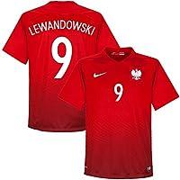 Nike Polen Away Trikot 2016 2017 + Lewandowski 9 (Fan Style)