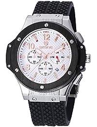 Nueva llegada Hombres Deportes reloj Fashion Casual luminoso cuarzo relojes piel hebilla banda resistencia al agua relojes de pulsera envío gratuito