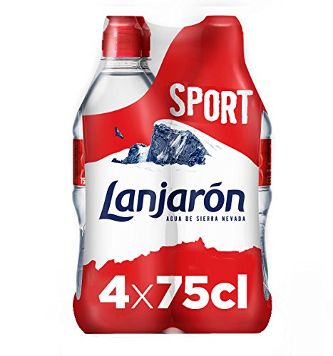 Foto de Lanjarón Agua Mineral Natural con Tapón Sport - Pack 4 x 75 cl