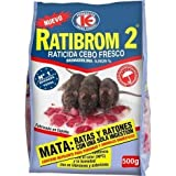 RATIBROM 2 - Raticida veneno contra roedores, ratas y ratones 500g