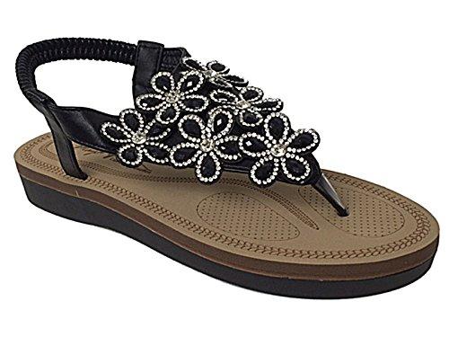 Foster Footwear , Sandales fille femme PU Noir