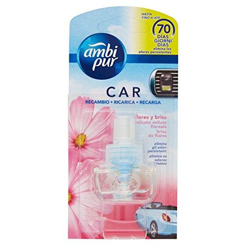 Ambi Pur Car Ricarica Deodorante per Auto, Fiori Delicati , 7 m