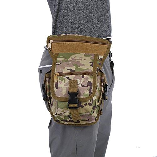 Camouflage Hüfttasche Bein Oberschenkel Packs Taktische Taille Tasche Satchel für Motorrad Jagd Reiten (Wasserdichte Bein)