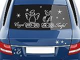 GRAZDesign 740430_57_518G Autoaufkleber Sticker Aufkleber Set für Auto Schriftzug Engel Mo-Do Fr-So Teufe (100x57cm//518 stahlblau)