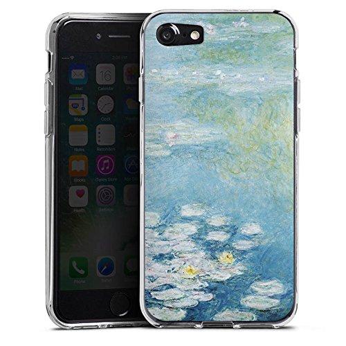 Apple iPhone X Silikon Hülle Case Schutzhülle Seerosen Claude Monet Gemälde Silikon Case transparent