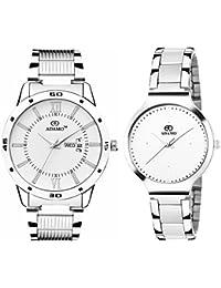 ADAMO Designer Analog White Dial Unisex's Watch-812-816SM01
