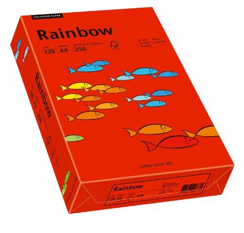Rot-inkjet-drucker (Papyrus 88042480 Drucker-/Kopierpapier farbig, Bastelpapier: Rainbow 120 g/m², A4 250 Blatt, matt, intensivrot)