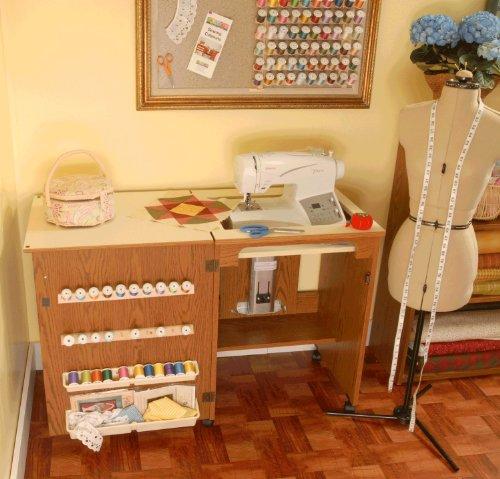 Mueble para m quina de coser sewnatra en roble de arrow - Mueble para maquina de coser ...