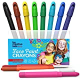 Picture Of BEST FACE PAINT KIT for Kids with 12Non-Toxic Color Sticks | Best Quality Painting Set , Sturdy Case +12 BONUS Stencils& E-book | Easy to Apply, Long Lasting, Water Based Twist Up Crayons!
