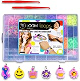 Loom Bands Kit and Clips Collection with 5500 Bandz + 170 Clips + 2 Hooks + 6 Pendants + 1 Loom Board 21 Beautiful Colors and Great Storage Case [ARTUROLUDWIG]
