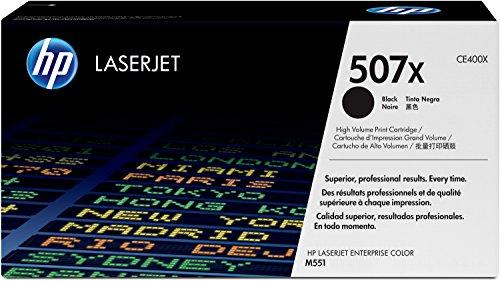 HP 507X (CE400X) Schwarz Original Toner mit hoher Reichweite für HP Laserjet Enterprise M551, Color M575, Pro 570 -