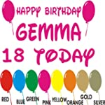 Personalised Happy Birthday Sticker A...