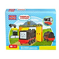 Mega Bloks CND73 - Thomas and Friends - Diesel At Sodor Oil 18 Piece Toy Train Playset