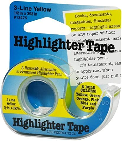 Lee Products Highlighter Tape 1/2