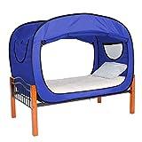 Privacy Pop Tente de lit, bleu, Jumeau