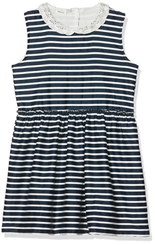 NAME IT Mädchen NMFERHARIA Spencer WL Box Kleid, Blau (Dark Sapphire Stripes:Snow White), 116 (Snow White Kleinkind Kleid)