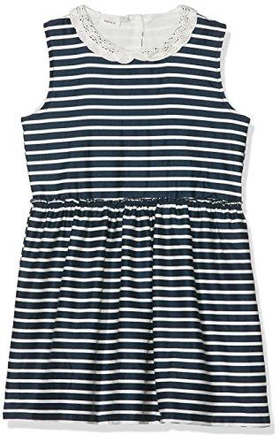 NAME IT Mädchen Kleid Nmferharia Spencer WL Box, Blau (Dark Sapphire Stripes:Snow White), 122