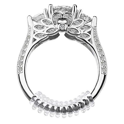 Designs Snuggies Mit (Case-ECraft 12Stk Spiral Ringverkleinerer Ring Snuggies Sizer Ring Size Adjuster Ringgröße Passform Fingerpassform mit Silberputztuch Poliertuch Polierung | (2mm / 3mm))