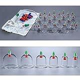 Schröpfen Set mit 24 Schröpfgläser aus Kunststoff mit Vakuumpumpe M016