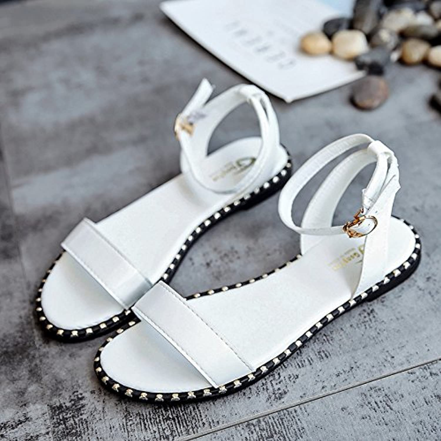 2956424b2 LGK FA Simple Summer Women S A Sandals Korean Student Summer Sandals Shoes  Are A Simple Korean All-Match Crocs Beach Parent B0769DC4LP d02251a