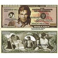 Novelty Dollar Patrick Swayze Commemorative Dollar Bills X 2