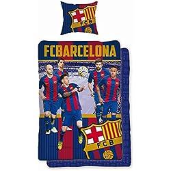Unbekannt Faro Fútbol Cama FC Barcelona FCB fcbarcelona Barca Messi 169Bed Linen Football 160x 200cm + 70x 80cm, algodón, más Colores, 200x 160cm