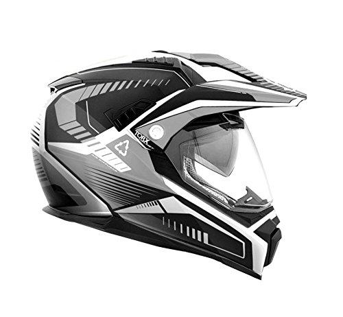 Casco Torx Dundee V Negro talla XXL negro blanco y gris quad motorrad