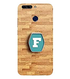 YuBingo Designer Printed Plastic Mobile Back Case Cover Panel for Huawei Honor 8 Pro ( Fatastic Letter F (3D Looking Letter Printed on Plastic) )