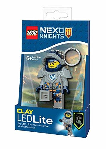 Schlüsselanhänger Clay (Lego 90013 Minitaschenlampe Nexo Knights, Clay, 7,6 cm)