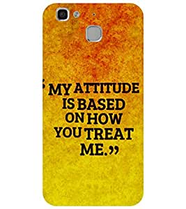 Takkloo quote on attitude ruff look, cover with quotetrendy cover) Printed Designer Back Case Cover for Huawei Enjoy 5