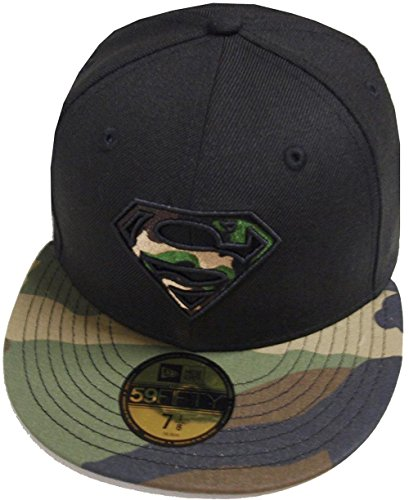 New Era Superman Black Woodland Camo Camouflage Marvel DC Cap 59fifty 5950 Fitted Basecap Kappe Men Special Limited Edition Camo 59fifty Fitted Cap