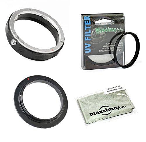 Maxsimafoto–AI 52mm Reverse Adapter Ring und hinten Lens Mount Schutz Ring mit UV Filter Kit für Nikon AI–F Mount. (Ring Reverse)