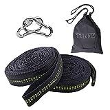 TTLIFE 2pcs 1000kg Befestigungsset für Hängematte Aufhänge Gürtel Hängemattenbefestigung Befestigungsbänder verstellbar sicher für Camping Garten