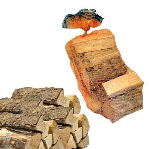 Sacco 15kg di legna da ardere 100% carpino in tronchetti per camino stufa 33 cm