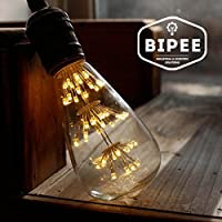 BIPEE Decorativa ST64 E27 Lampadina a LED, 3W Equivalente a