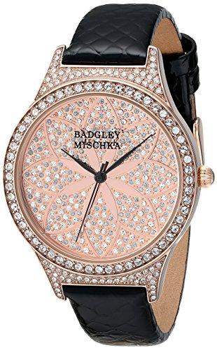 badgley-mischka-femmes-de-ba-1348pkbk-cristal-swarovski-accentues-montre-bracelet-en-cuir-noir