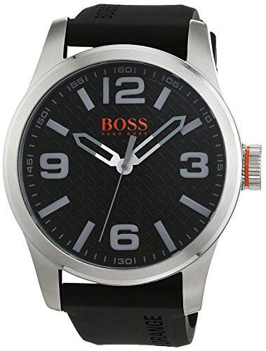 Hugo Boss Orange Paris Men's Quartz Analogue Classic Black Silicone Strap 1513350