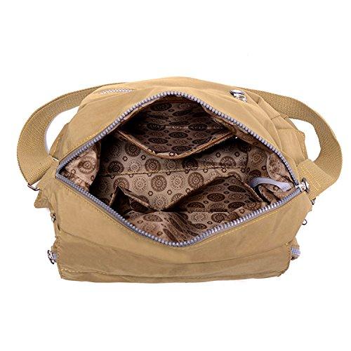 Outreo Umhängetasche Damen Schultertasche Mode Taschen Designer Messenger Bag Leichter Kuriertasche Wasserdicht Reisetasche für Sporttasche Blau 4