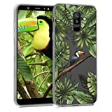 kwmobile Samsung Galaxy A6+/A6 Plus (2018) Hülle - Handyhülle für Samsung Galaxy A6+/A6 Plus (2018) - Handy Case in Grün Schwarz Transparent