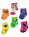 Disney Disney Baby Minnie Mouse Infant Baby Girls 6 Pack Socks (0-6 Months)