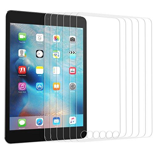Dexnor iPad Mini 4 Panzerglas Schutzfolie, [6 Stück] Panzerfolie Glas Folie Displayschutzfolie 9H Härtegrad, 0.33mm, 99% Transparent Gehärtetem Hartglas Glasfolie Anti-Kratz Anti-Fingerabdruck Anti-Blase (Satin-long Wallet)